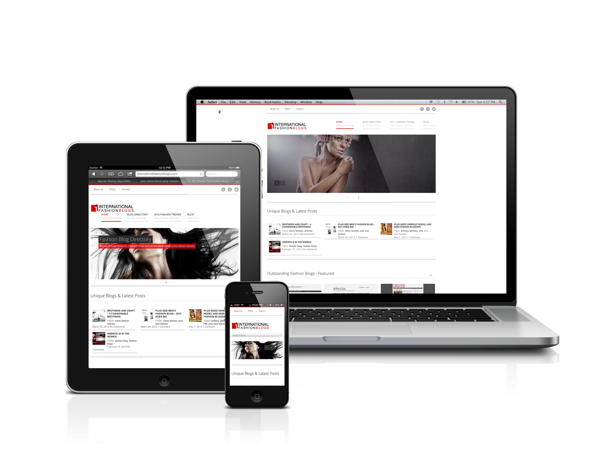 Responsive Web Design - One site seamlessly transitioning to many devices